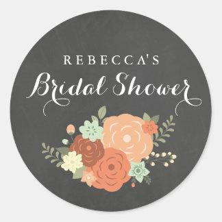 Chalkboard Spring Foliage Bridal Shower Sticker