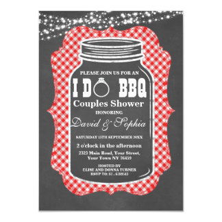 Chalkboard String Lights I DO BBQ Mason Jar Invite