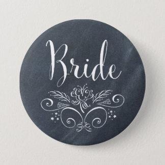 Chalkboard Style Bride Button