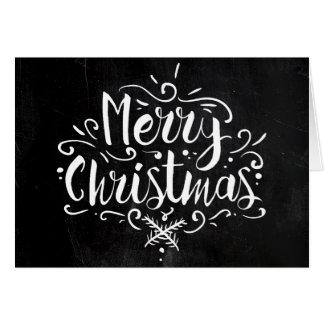 Chalkboard Style Christmas Card