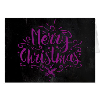 Chalkboard Style Christmas Card -  Pink