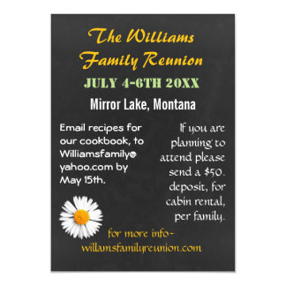 Chalkboard Style Family Reunion Invitation Magnet Magnetic Invitations