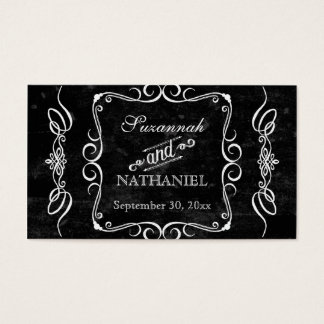 Chalkboard Style Rustic Swirl Couples Favor Tags