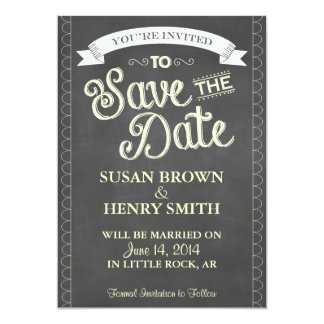 Chalkboard Style SAVE the DATE Card