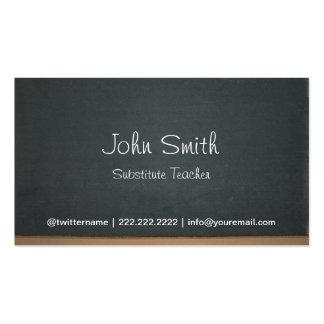 Chalkboard Substitute Teacher Business Card