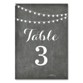 Chalkboard Summer String Light Table Number