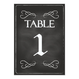 Chalkboard Table Numbers Card