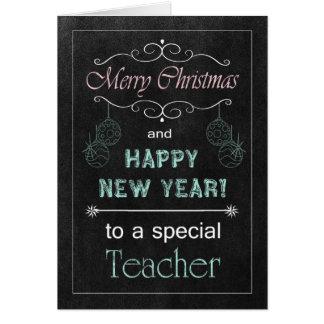 Chalkboard Teacher Christmas Card