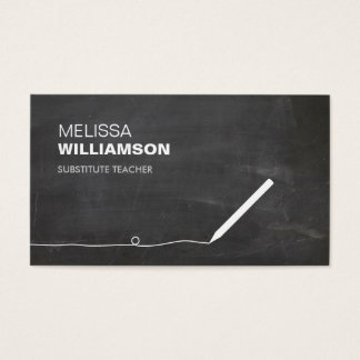 Chalkboard Teacher, Educator Business Card