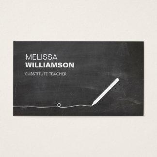 Chalkboard Teacher, Educator Business Card