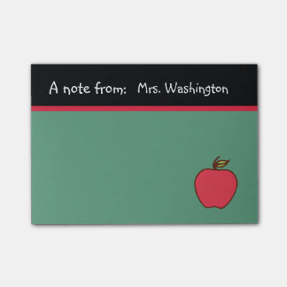 Chalkboard Teacher's Apple Post It Notes Gift
