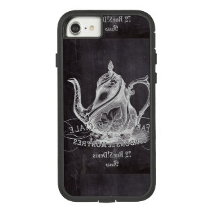 Chalkboard teapot Alice in Wonderland tea party Case-Mate Tough Extreme iPhone 8/7 Case