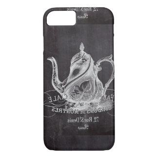 Chalkboard teapot Alice in Wonderland tea party iPhone 8/7 Case