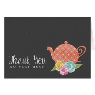 Chalkboard Teapot Thank You Note Card