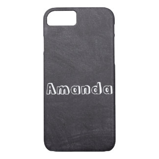 Chalkboard texture iphone case (add your name!)