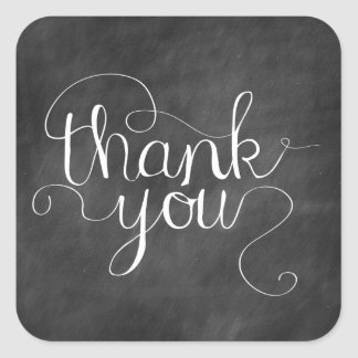 Chalkboard Thank You Calligraphy Sticker