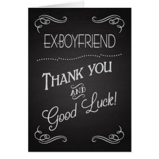 Chalkboard Thank You & Good Luck to Ex-Boyfriend Card