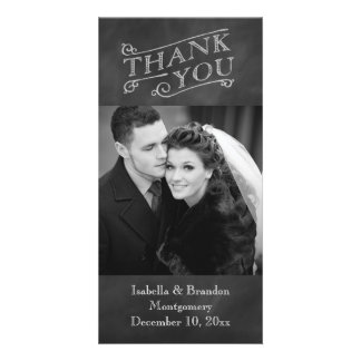 Chalkboard Thank You Photo Card
