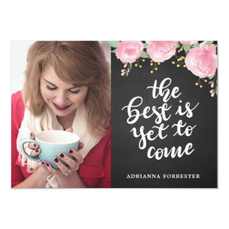 Chalkboard The Best Is Yet To Come | Grad Photo Card