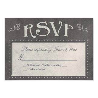 Chalkboard theme RSVP Card