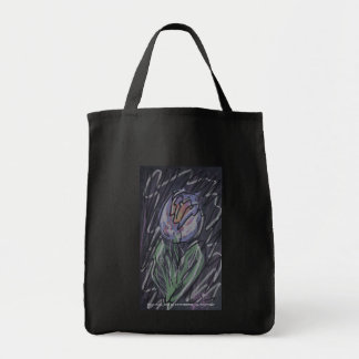 Chalkboard tulip doodle