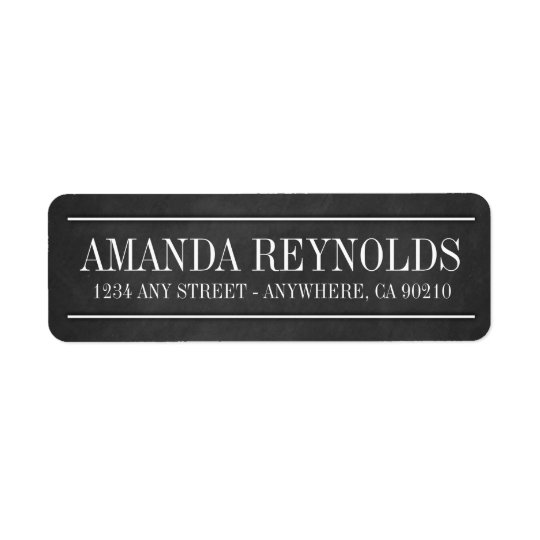 Chalkboard Typography Wedding Address Labels