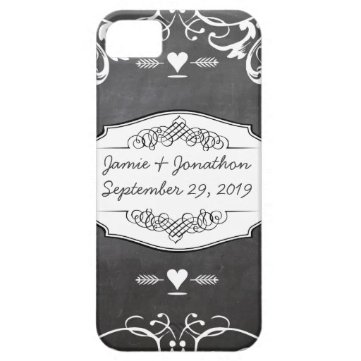 Chalkboard Typography Weddings Case For iPhone 5/5S