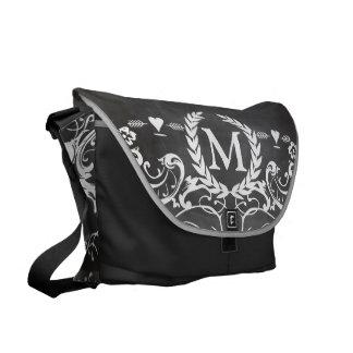 Chalkboard Typography Weddings Messenger Bags