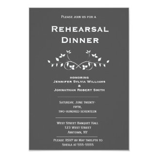 Chalkboard Vines Rehearsal Dinner Invitations