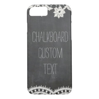 Chalkboard Vintage Lace custom text name iPhone 7 iPhone 7 Case
