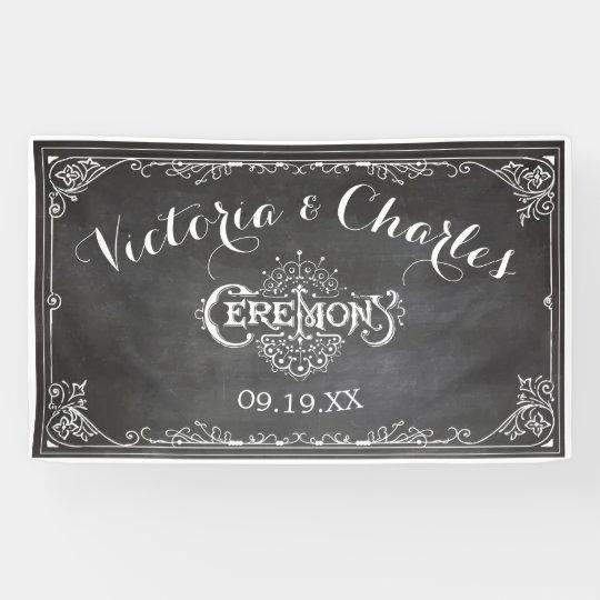 Chalkboard Vintage Typography Wedding Banner