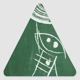 Chalkboard Vinyl Record Cartton Triangle Sticker