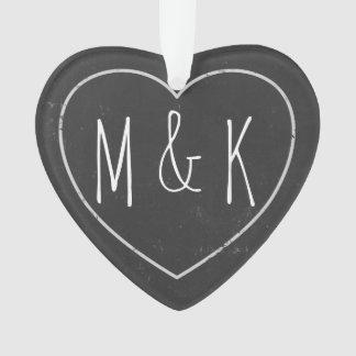 Chalkboard Wedding Anniversary Date Custom Message Ornament