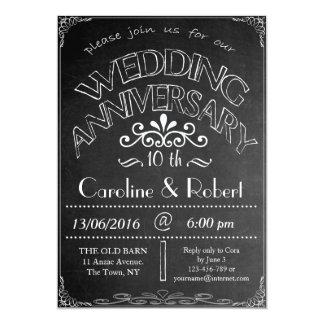 Chalkboard Wedding Anniversary Invitation 10th