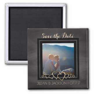 Chalkboard Wedding | Custom Photo Save the Date Magnet