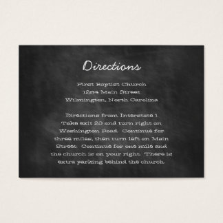 Chalkboard Wedding Directions Insert Cards