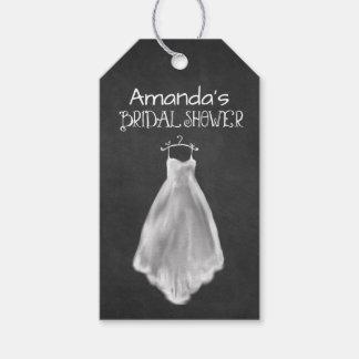 Chalkboard Wedding Dress Bridal Shower Favor Tags Pack Of Gift Tags