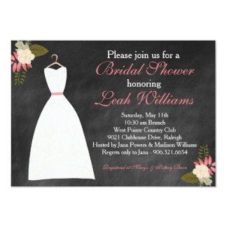 Chalkboard Wedding Dress Bridal Shower Invitation