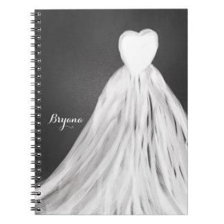 Chalkboard Wedding Dress Bridal Shower Journal