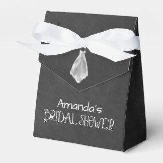 Chalkboard Wedding Dress Bridal Shower Party Favor Box