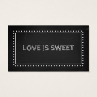 Chalkboard Wedding Favor Recipe Tags Business Card