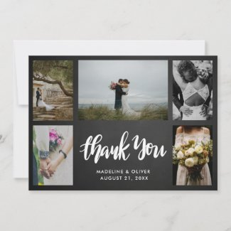 Chalkboard Wedding Five Photos | Thank You Script