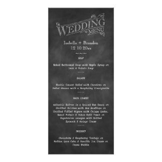 Chalkboard Wedding Menu 2