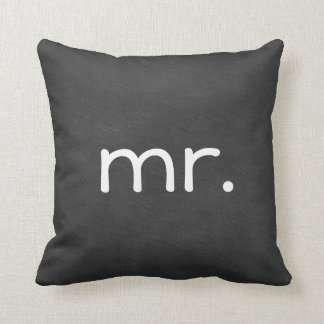 Chalkboard Wedding Mr. Mister Throw Pillow