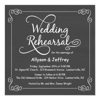 Chalkboard Wedding Rehearsal Dinner Invitations