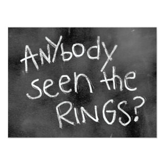 Chalkboard Wedding Sign: For thr Ring Bearer Card