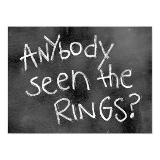 "Chalkboard Wedding Sign: For thr Ring Bearer 6.5"" X 8.75"" Invitation Card"