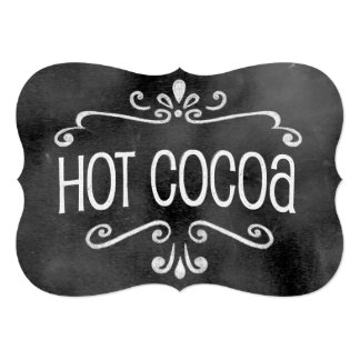 Chalkboard Wedding Sign: Hot Cocoa Card