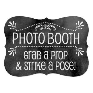 Chalkboard Wedding Sign: Photo Booth Card
