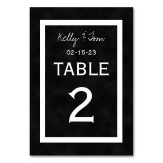 Chalkboard Wedding Table Numbers Cards